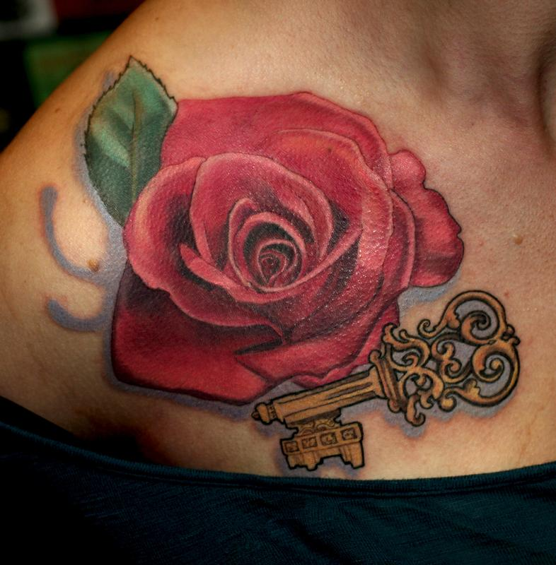 Off The Map Tattoo : Tattoos : Body Part Chest Tattoos For