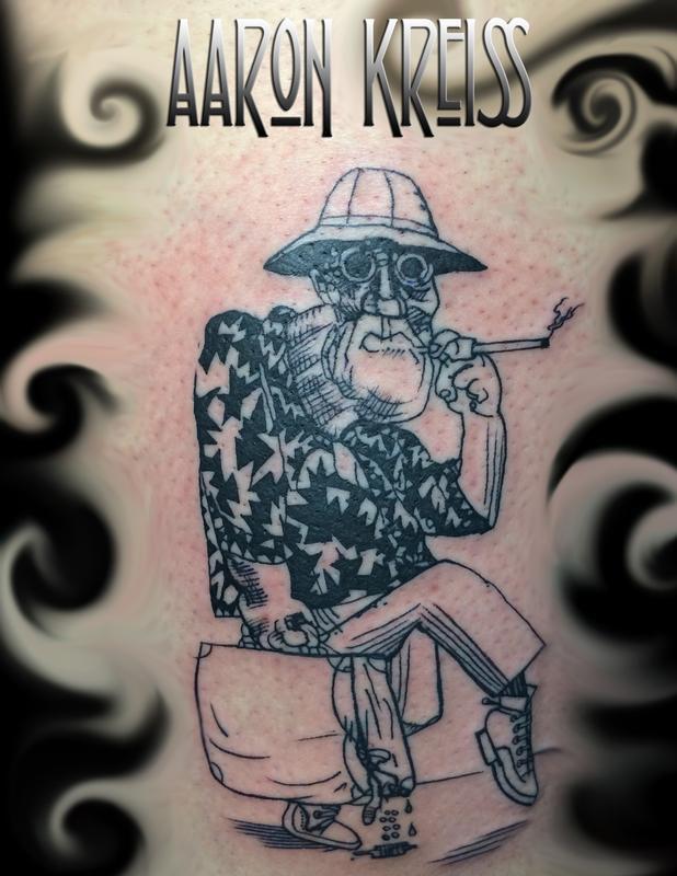 Hunter s thompson ralph steadman fear loathin in las for Hunter s thompson tattoos