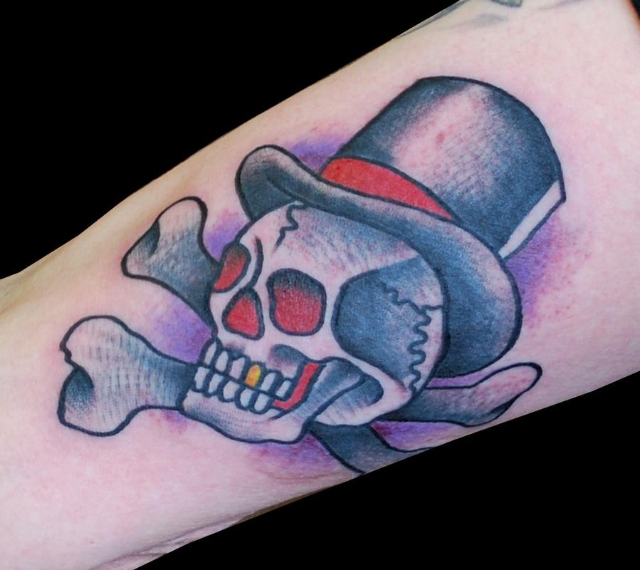 30 Skull With Top Hat Tattoo Designs For Men – Manly Ink Ideas