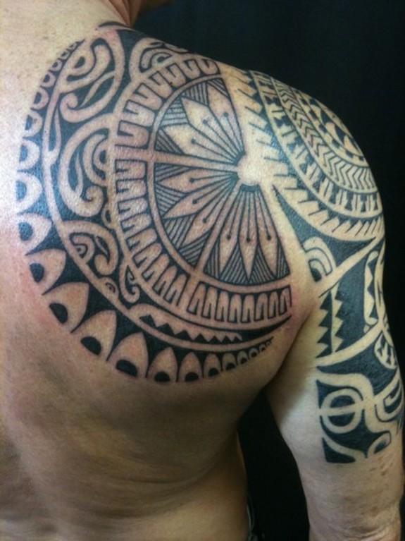 Polynesian Full Back Tattoos: Modern Polynesian 2 Back By Alex Nardini: TattooNOW