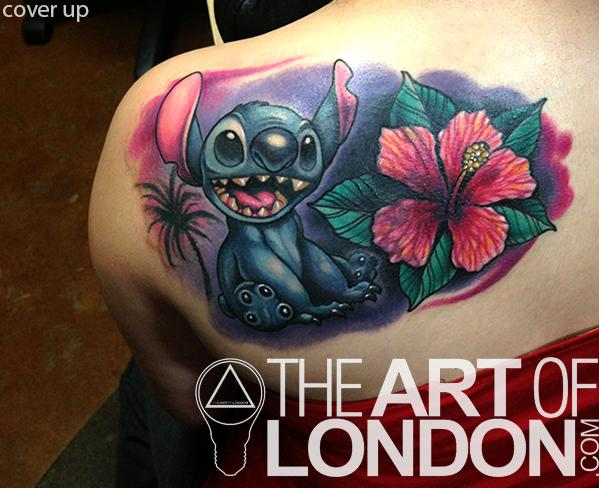 stitch cover up tattoo by london reese tattoonow. Black Bedroom Furniture Sets. Home Design Ideas
