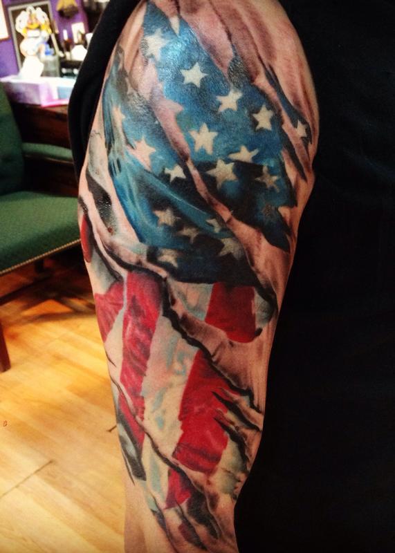 Benchmark Tattoo amp Fade Away Laser Tattoos Half Sleeve