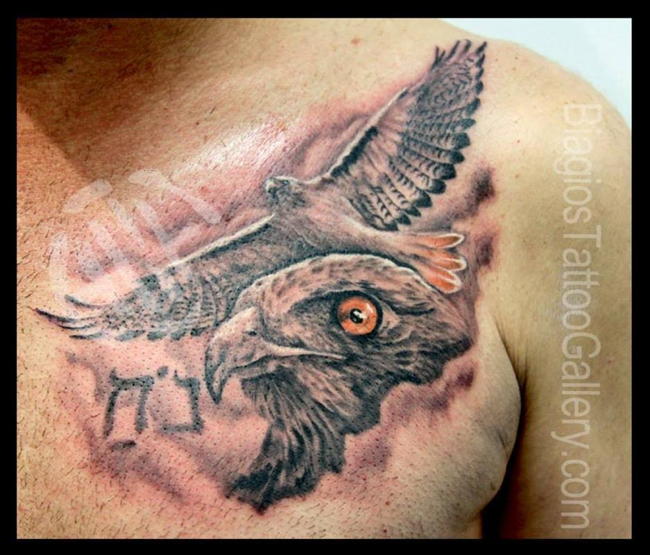 Roaring Lion Profile Tattoo Red Tail Hawk Tattoo M...