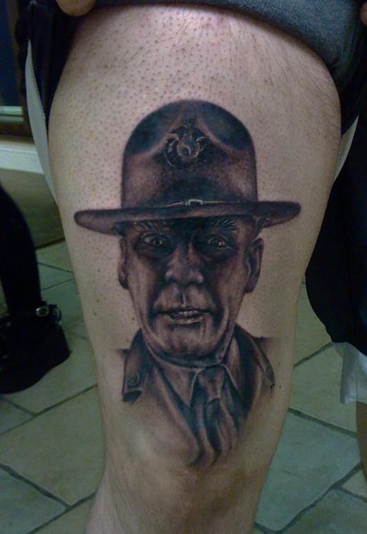 R Lee Ermey Tattoo Large Image | Leave Co...