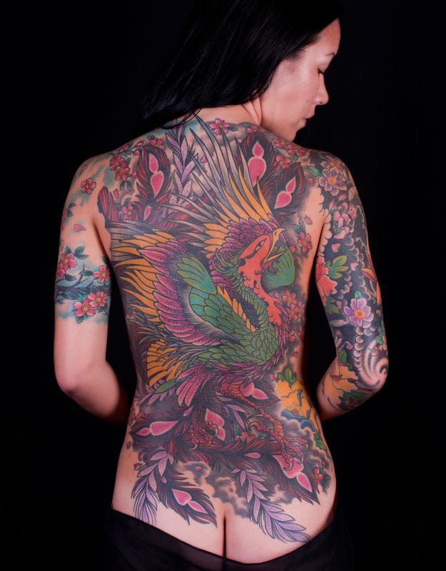 Phoenix back piece tattoo by nick wagner tattoonow for Tattoo artist phoenix az
