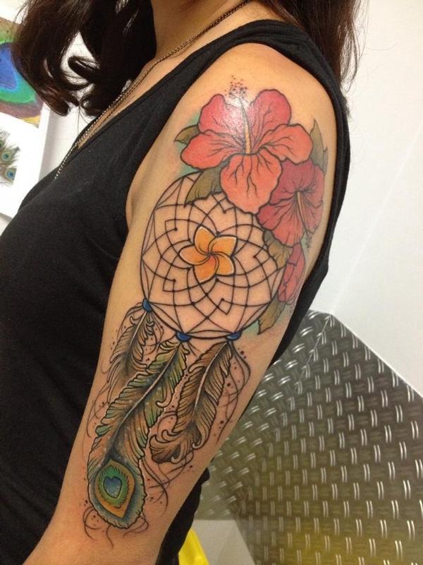 Hawaiian Dream Catcher Hawaiian dreamcatcher by Emy Blacksheep TattooNOW 2