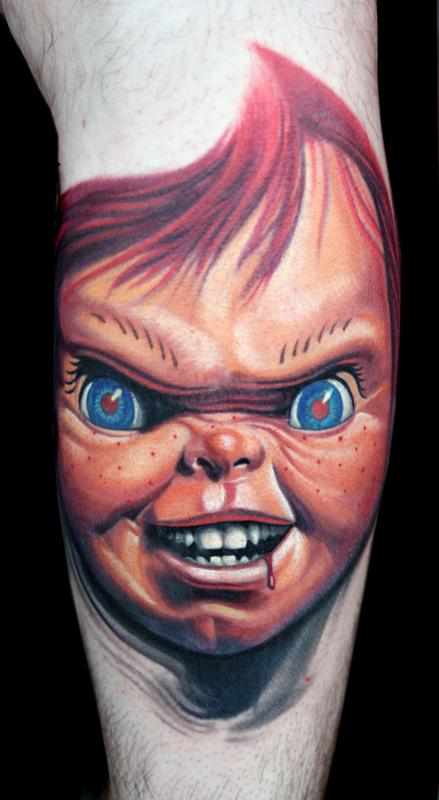 Realistic Coloring Of Chucky: Off The Map Tattoo : Tattoos : Movie : Original Chucky