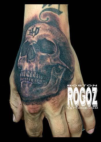 Boston Rogoz Tattoo Tattoos Realistic HD Hand Skull