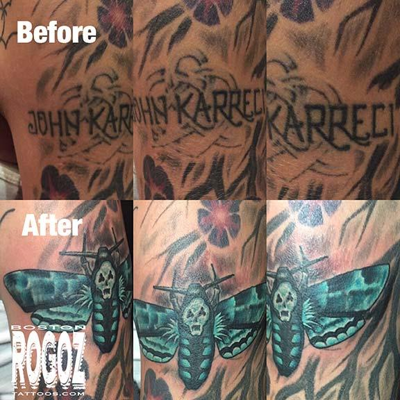a6330f5c6 Death moth coverup tattoo by Boston Rogoz: TattooNOW :