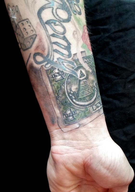 One dollar bil by brendan tangel tattoonow for 20 dollar tattoos