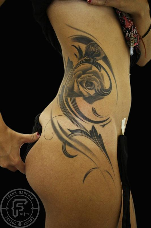 Roses Side Piece By Francisco Sanchez : Tattoos