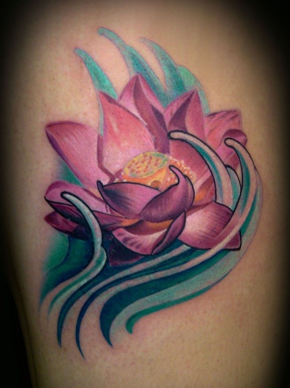 lotus cover up with water by francisco sanchez tattoos. Black Bedroom Furniture Sets. Home Design Ideas