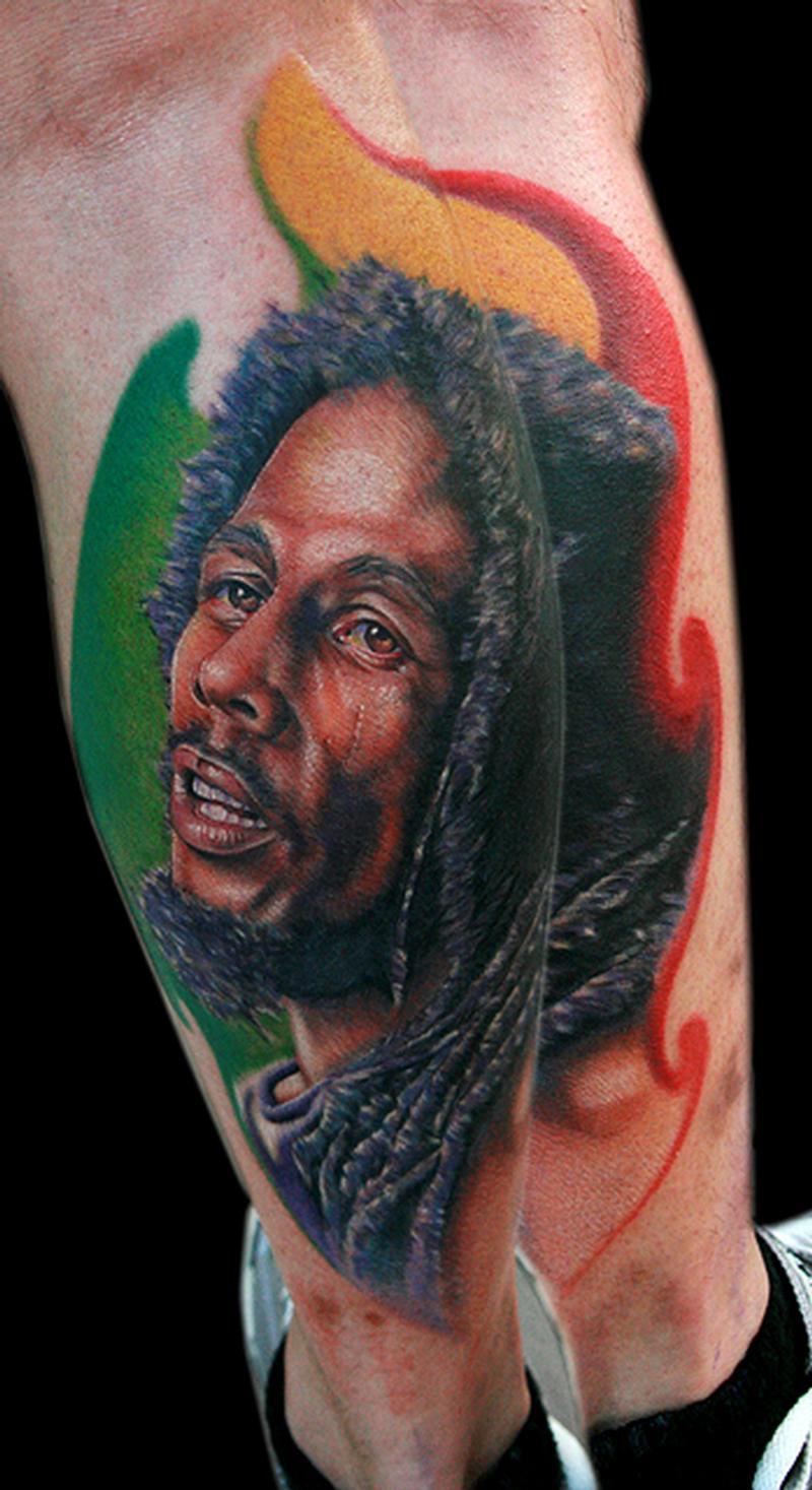 Cecil porter illustration tattoos celebrity bob marley for Bob marley tattoo