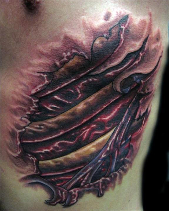 By christian perez tattoonow for Religious rib tattoos for guys
