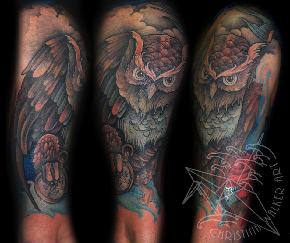 IMG 8219editsm jpgOwl Half Sleeve Tattoos