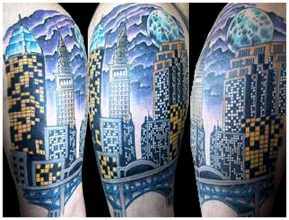 Downtown cleveland tattoo by eric paluch aka chico for Tattoo shops in cleveland