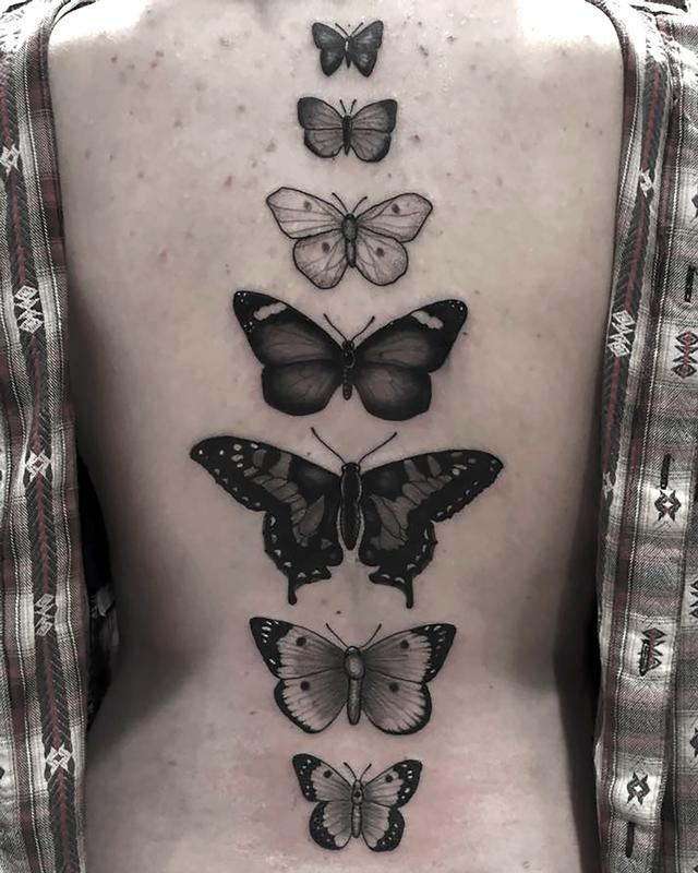 Black and grey butterflies by eddie zavala tattoonow for Black and grey tattoo artists