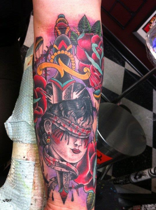 Lady justice by jedidia tattoonow for Tattoos of lady justice