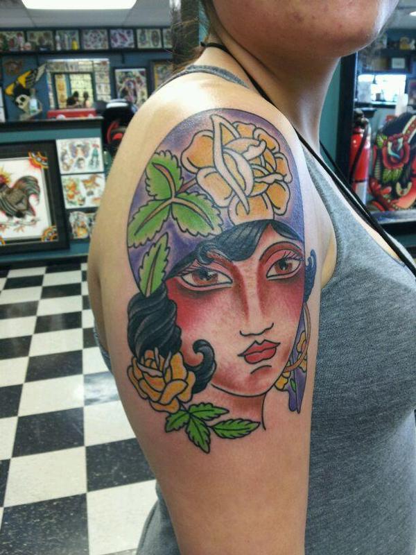 Gypsy babe by william tattoonow for Element tattoo san antonio texas