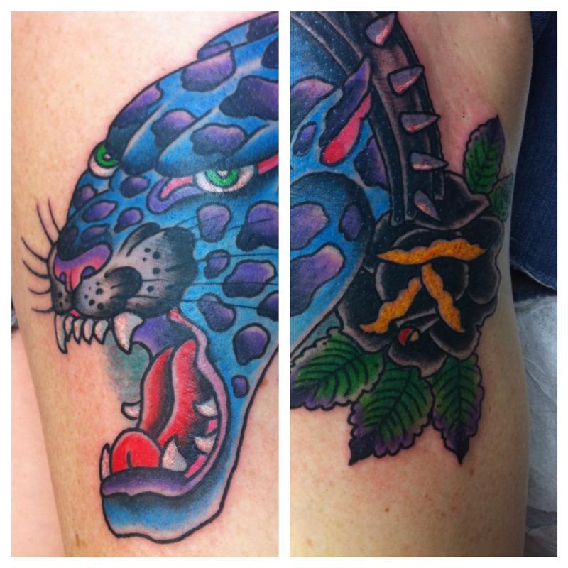 Leapord by jedidia tattoonow for Element tattoo san antonio texas