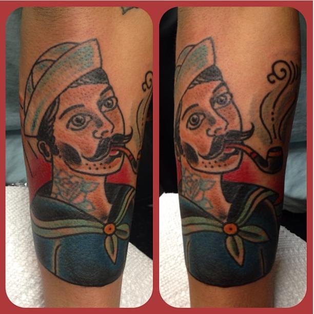 Sexy sailor man by justin martinez tattoonow for Element tattoo san antonio