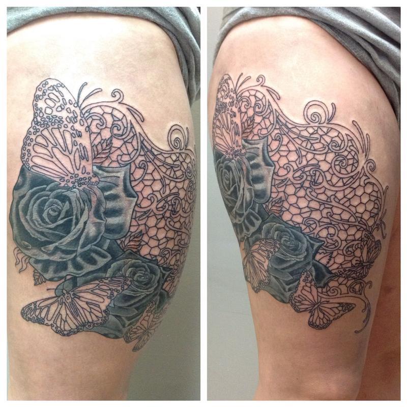 Lace in progress by cat johnson tattoonow for Tn tattoo laws