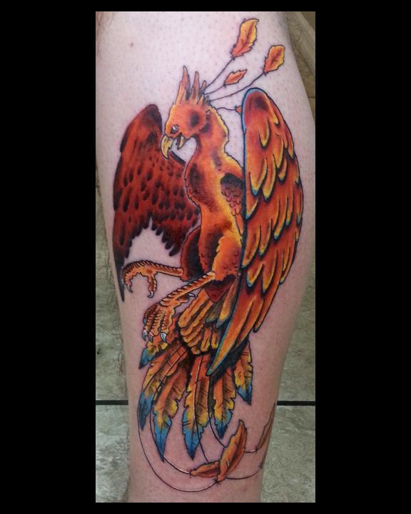 Phoenix by david j kline tattoonow for Tattoo artist phoenix az
