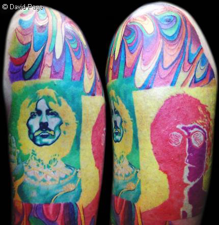 beatles tattoo by david page tattoonow. Black Bedroom Furniture Sets. Home Design Ideas
