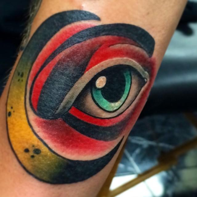 depiction tattoo gallery tattoos christopher o 39 toole moon and eye tattoo. Black Bedroom Furniture Sets. Home Design Ideas