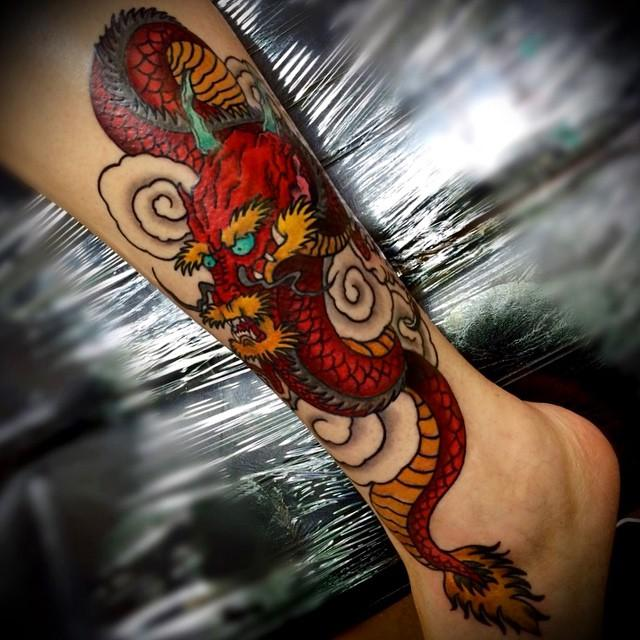 depiction tattoo gallery tattoos body part ankle dragon tattoo. Black Bedroom Furniture Sets. Home Design Ideas