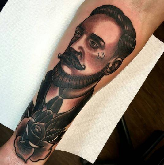 gentleman portrait by christopher o toole tattoonow