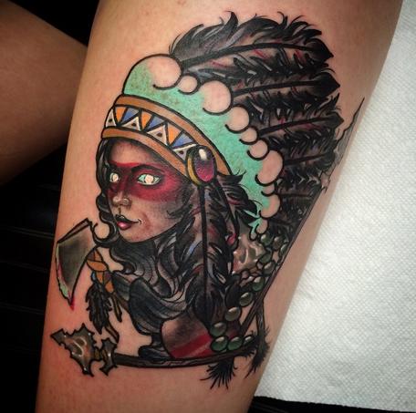 depiction tattoo gallery tattoos feminine native american girl tattoo. Black Bedroom Furniture Sets. Home Design Ideas