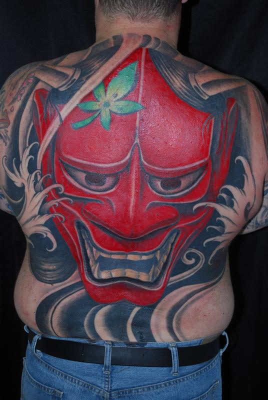 Traditional Hanya Mask Tattoo: Off The Map Tattoo