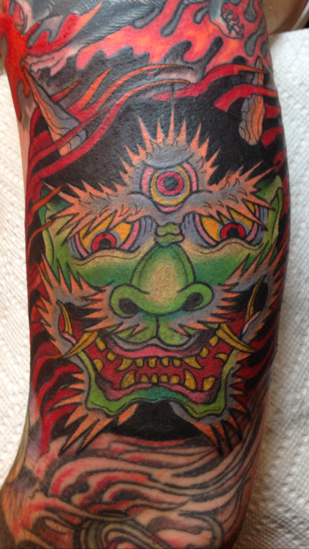 Deluxe tattoo tattoos traditional japanese hanya oni for Japanese tattoo chicago
