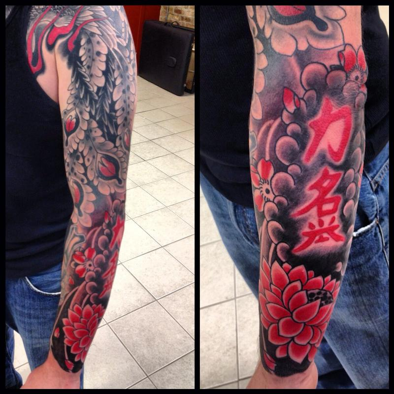 Deluxe tattoo tattoos traditional japanese phoenix for Japanese tattoo chicago