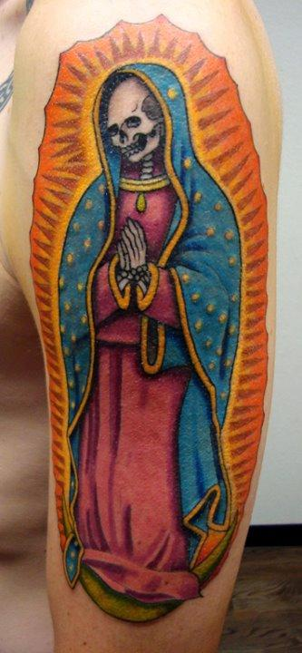 dead virgin mary by ian robert mckown tattoos. Black Bedroom Furniture Sets. Home Design Ideas