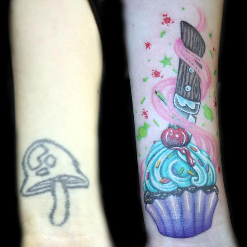 Another Cover Up From Today Thanks Tattoo Fixers: Color Cupcake Coverup By Angela Leaf : Tattoos