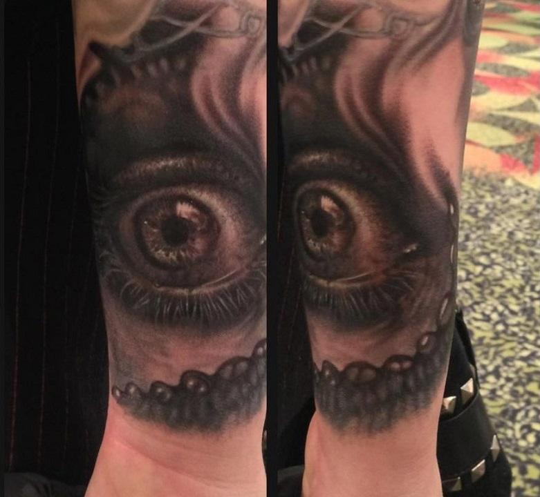 Black and grey eye tattoo by francisco sanchez tattoos for Black and grey tattoo artists