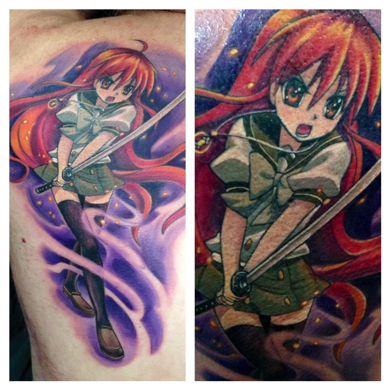 Anime Characters With Tattoos : Anime character by max egy tattoonow
