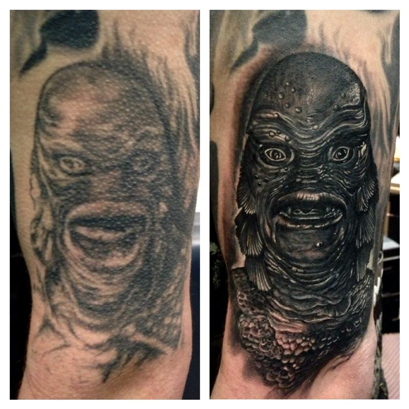 Creature of the black lagoon by max egy tattoonow for Tattoo shops terre haute indiana