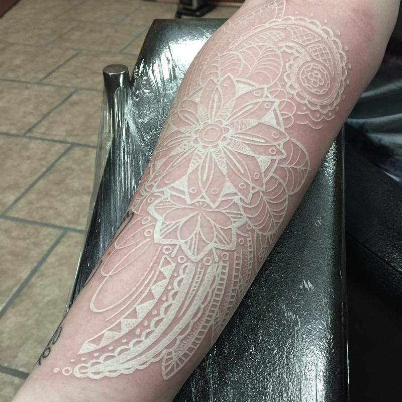 White ink paisley by bradley pearce tattoonow for White ink tattoo artists