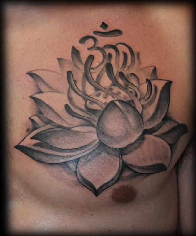Lotus flower by george perham tattoonow for Tattoo shops in st george