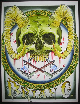 Business card idea by brian gallagher tattoonow for Living dead tattoo haverstraw ny