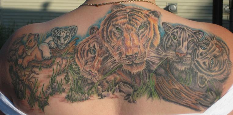 Tigers by brian gallagher tattoonow for Living dead tattoo haverstraw ny
