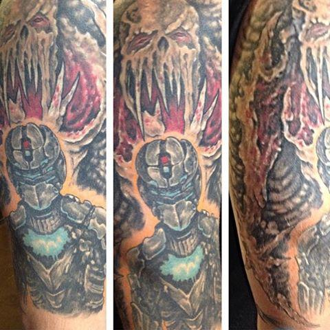 Dead space by albert martinez tattoos for Tattoo artist in fort lauderdale