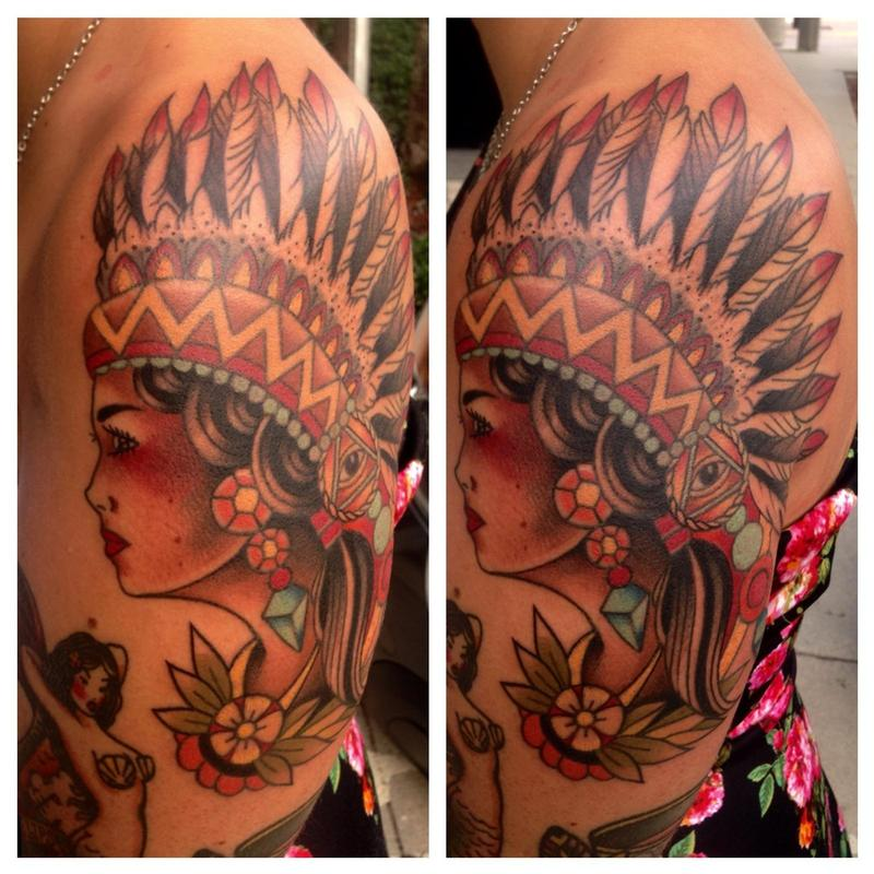 Hcfl tattoo tattoos body part arm traditional indian for Tattoo artist in fort lauderdale