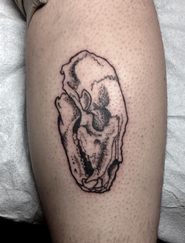 bear skull blackwork tattoo by ben licata tattoonow. Black Bedroom Furniture Sets. Home Design Ideas