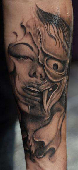 Japanese morph by ryan hadley tattoonow for Tattoo shops in fort wayne