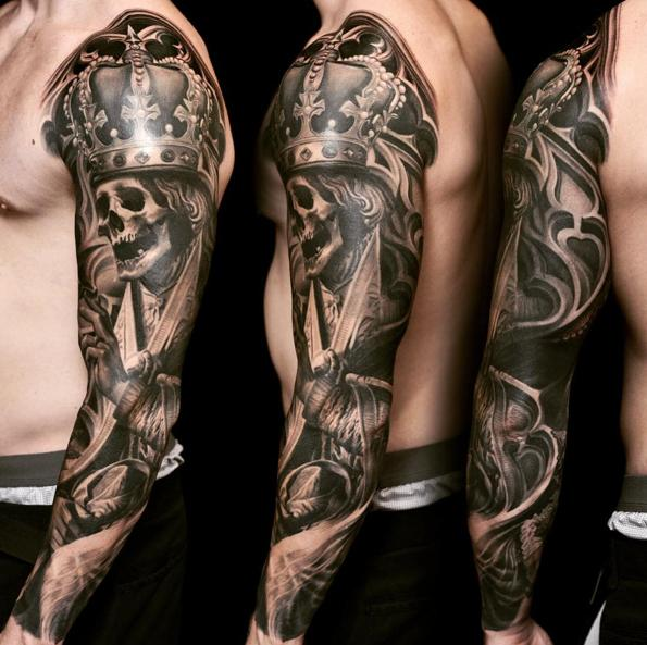 Worldwide Tattoo Conference : Tattoos : Body Part Arm Sleeve : Skull ...