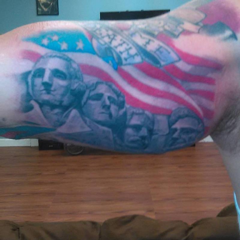 mt rushmore tattoo